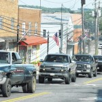 Truck tribute to Newman fills Main Street