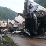 Tractor-trailer accident on I-77 claims life, causes delays