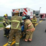 Three teens airlifted from wreck in Carroll