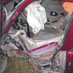 Car collides with Cana ambulance