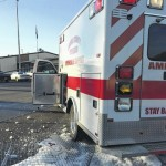 Carroll ambulance struck, takes out VFW fence