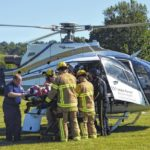 Hillsville man airlifted after motorcycle wreck