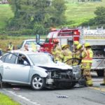 Man charged in four-vehicle accident in front of Sunny Side Store