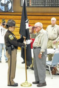Sheriff's Department holds special flag presentation ceremony for VFW
