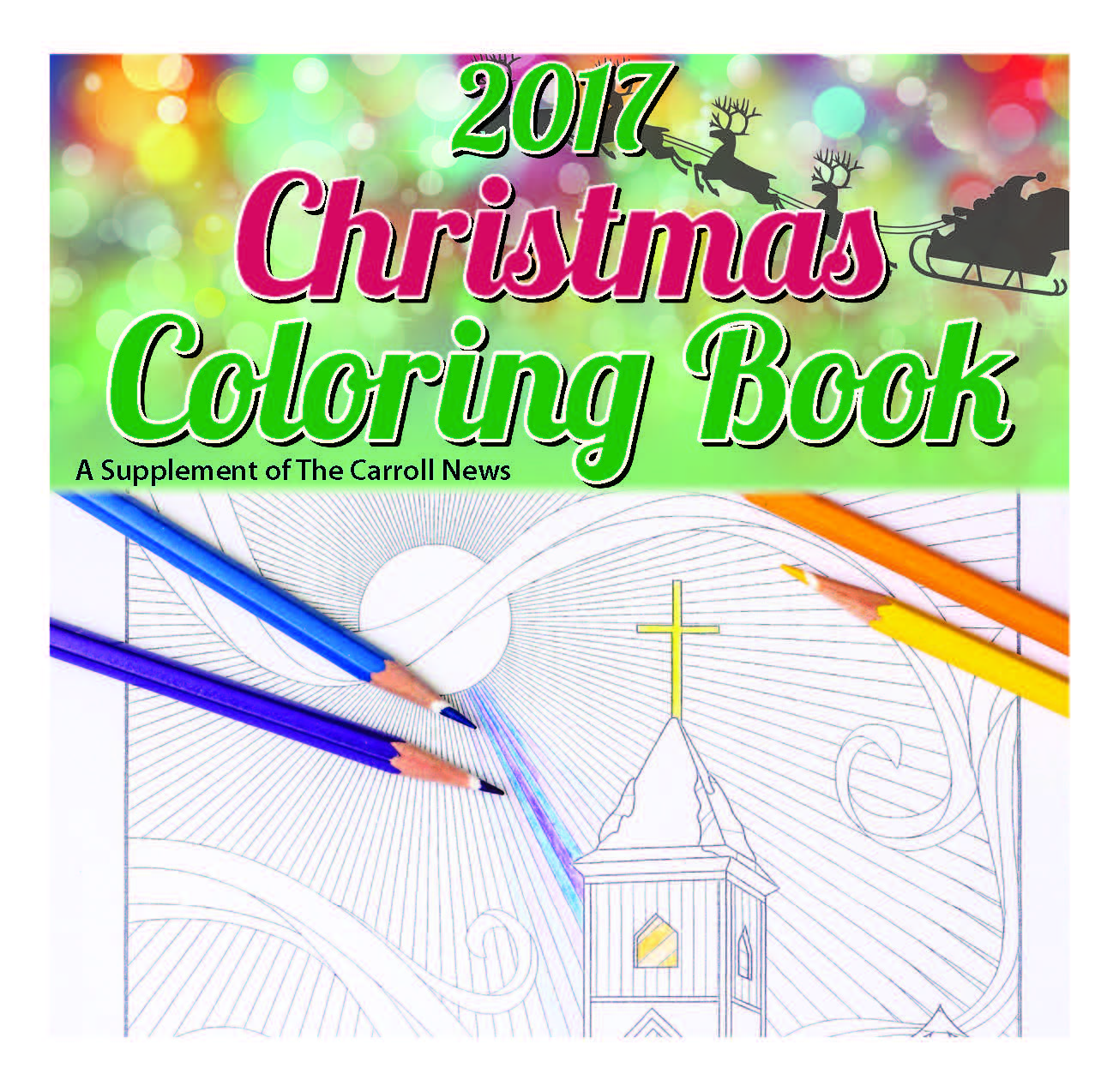 Carroll Christmas Coloring Book